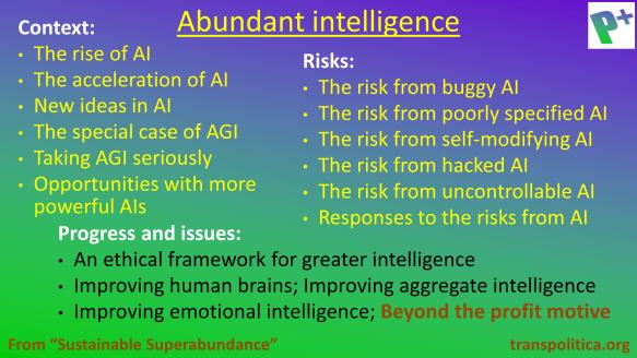 Abundant intelligence